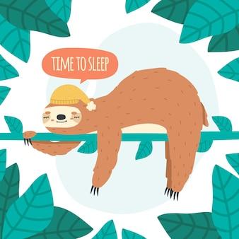 Милый спящий ленивец