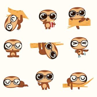 Cute sloth illustration