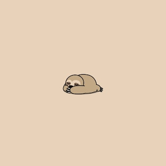 Cute sloth sleeping icon