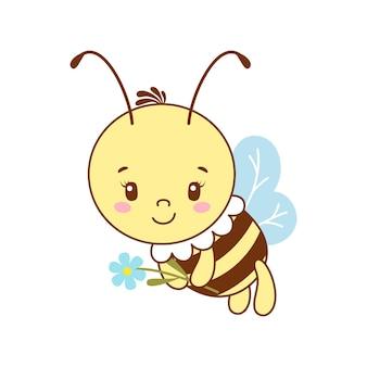 かわいい笑顔の蜂。