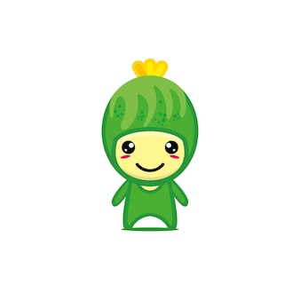 귀여운 미소 재미있는 오이 캐릭터 벡터 가와이이 야채 캐릭터 만화 일러스트 레이션