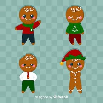Cute smiling gingerbread cookies