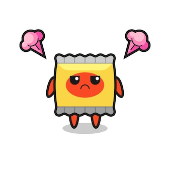 Cute snack character with suspicious expression , cute style design for t shirt, sticker, logo element