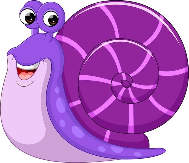 귀여운 달팽이 프리미엄 벡터