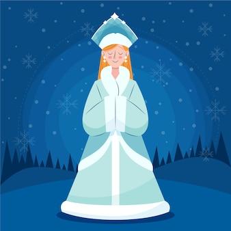 かわいい雪の乙女キャラクター