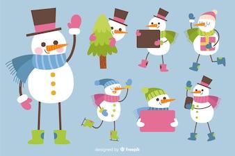 Cute snowman collection