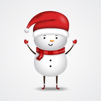 Cute snowman for merry christmas illustration
