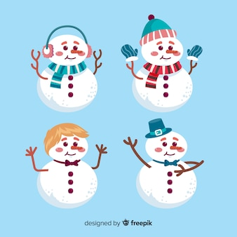 Cute snowmen collection
