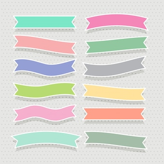Cute soft colorful ribbons set