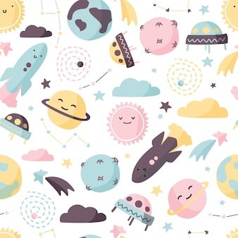 Cute space background.
