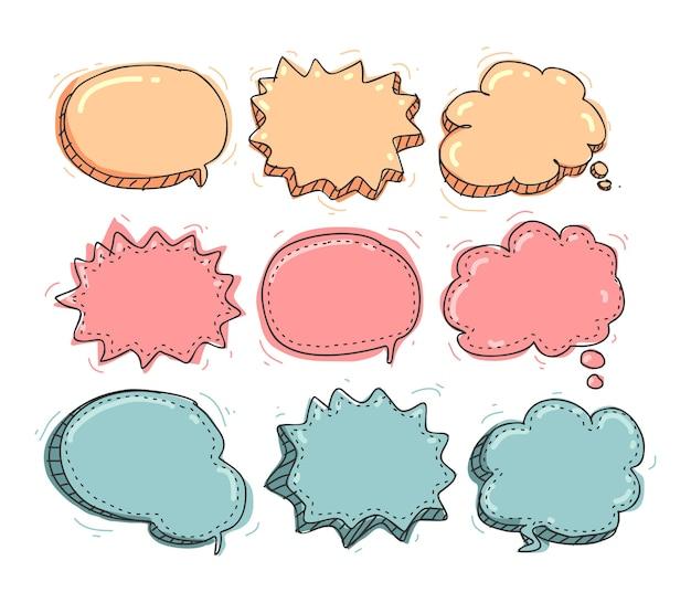 Cute speech bubble hand drawing