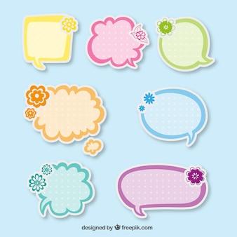 Cute speech bubbles stickers