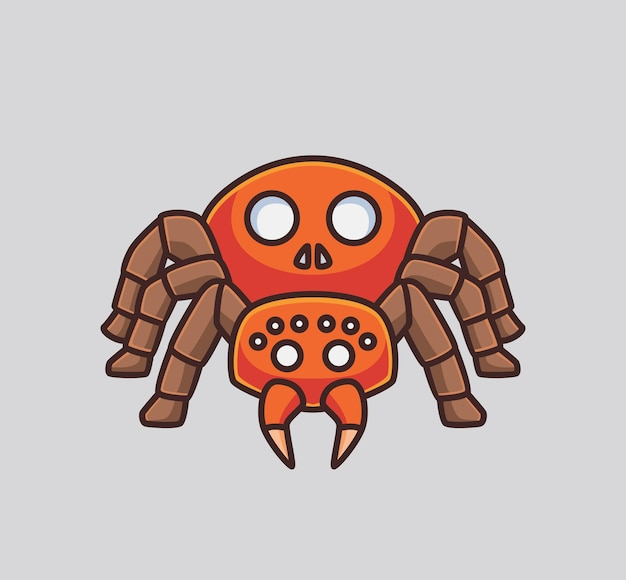 Cute spider. isolated cartoon animal halloween concept illustration. flat style suitable for sticker icon design premium logo vector. mascot character