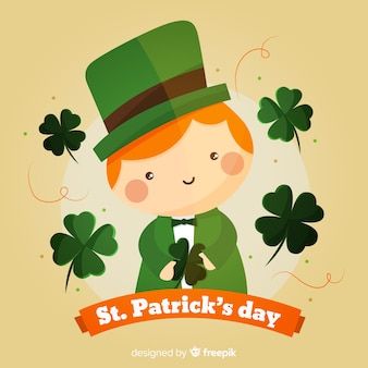 Cute spirit st patrick day background