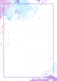 Cute splash abstract background watercolor