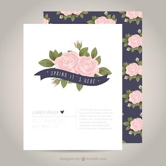 バラかわいい春のカード