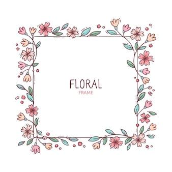 귀여운 봄 꽃 프레임