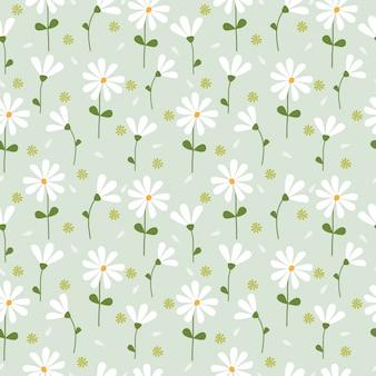 Cute spring flowers pattern seamless