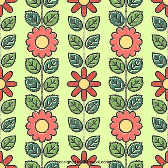 Cute spring flowers pattern