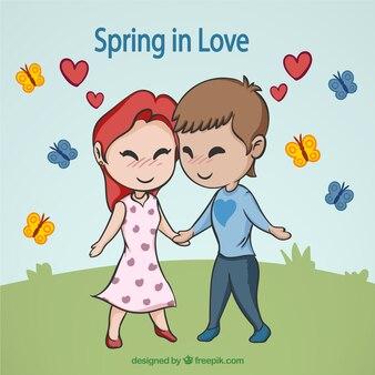 Cute spring love