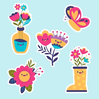 Cute spring stickers collection