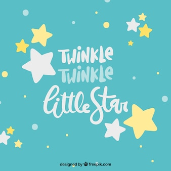 Cute star background with lettering