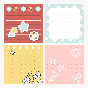 Cute star design memo set