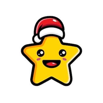 귀여운 별은 크리스마스를 축하합니다
