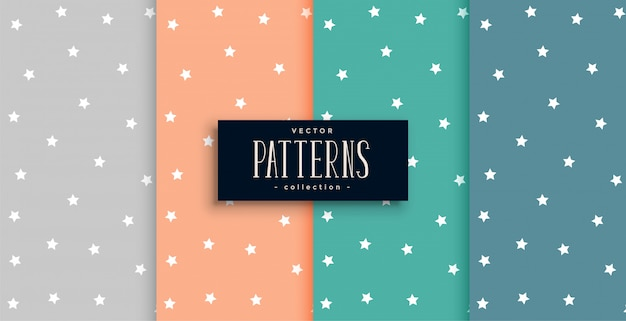 Cute stars pattern set in many colors