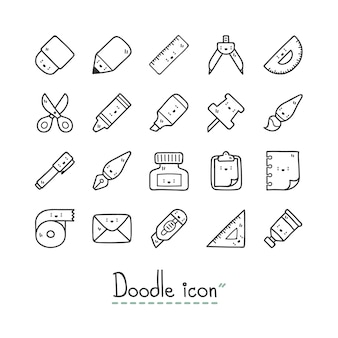 Cute stationery icons.