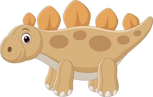 Cute stegosaurus dinosaur doll