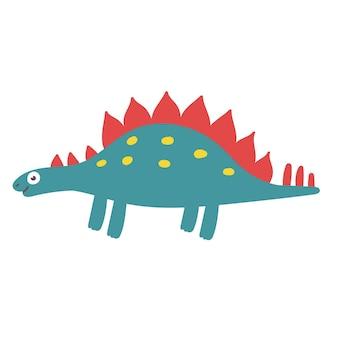 Cute stegosaurus dinosaur