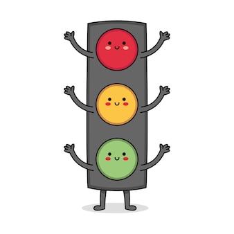 Cute street light cartoon character