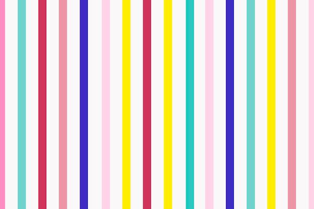 かわいい縞模様の背景、カラフルなパターンベクトル
