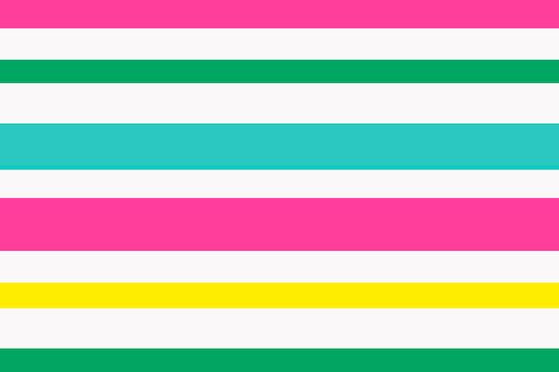 Simpatico sfondo a righe, vettore di motivo colorato rosa