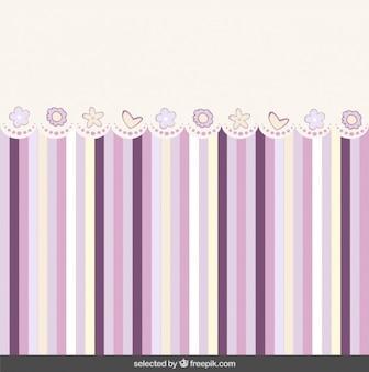 Симпатичные полосатый фон с кружевами
