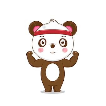 귀여운 강한 팬더