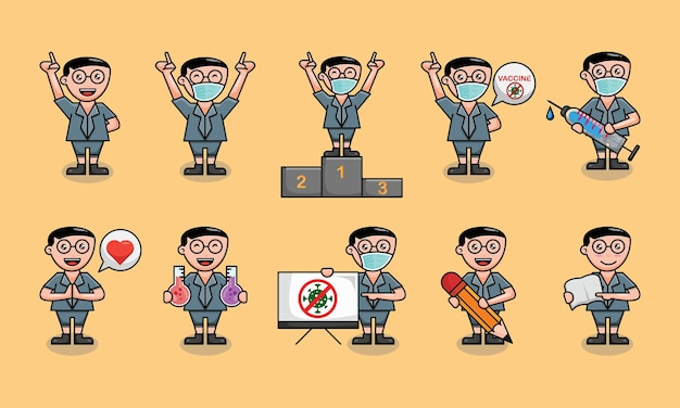Cute student back to school vector design