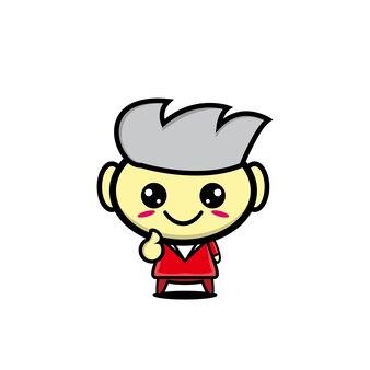 귀여운 스타일 만화 사람들 캐릭터 디자인 일러스트 레이션
