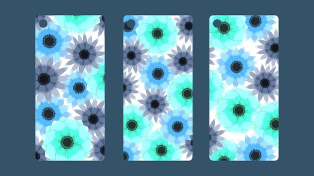 가격 할인 가격 세트 판매에 대한 귀여운 세련된 꽃 벡터 태그 컬렉션 템플릿 레이블