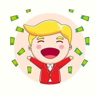 Мультфильм милый успех бизнесмен
