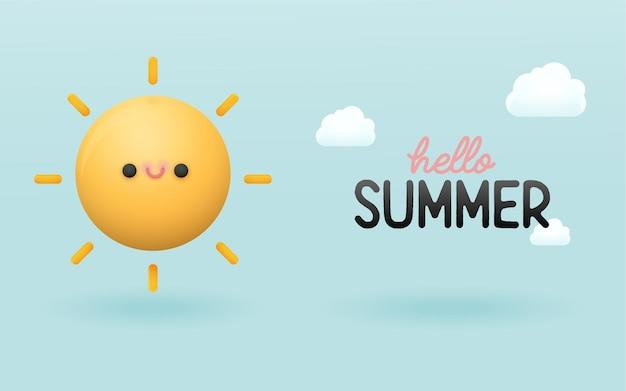 かわいい夏の背景