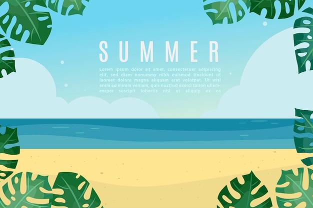 Симпатичная летняя баннерная иллюстрация