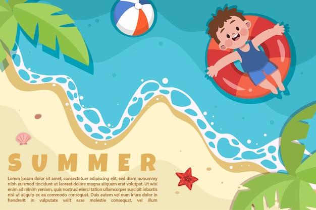 귀여운 여름 배너 그림