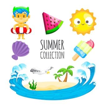 귀여운 여름 컬렉션