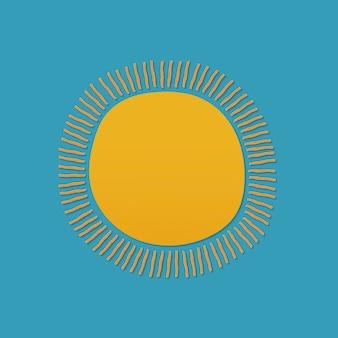 かわいい太陽のステッカー、印刷可能な天気クリップアートベクトル