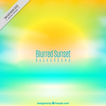 Cute sunset background with blurred effect