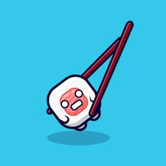 かわいい巻き寿司は食べられるのが怖い漫画アイコンイラスト