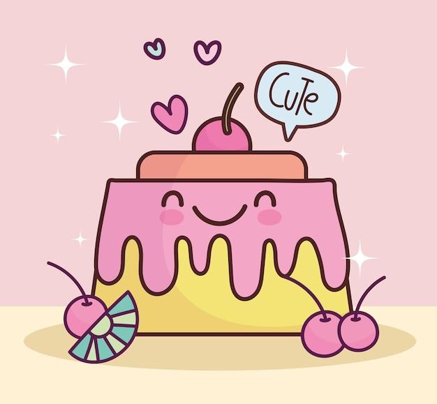 かわいい甘いゼリーフルーツ漫画