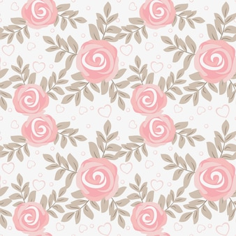 Cute sweet rose seamless pattern.